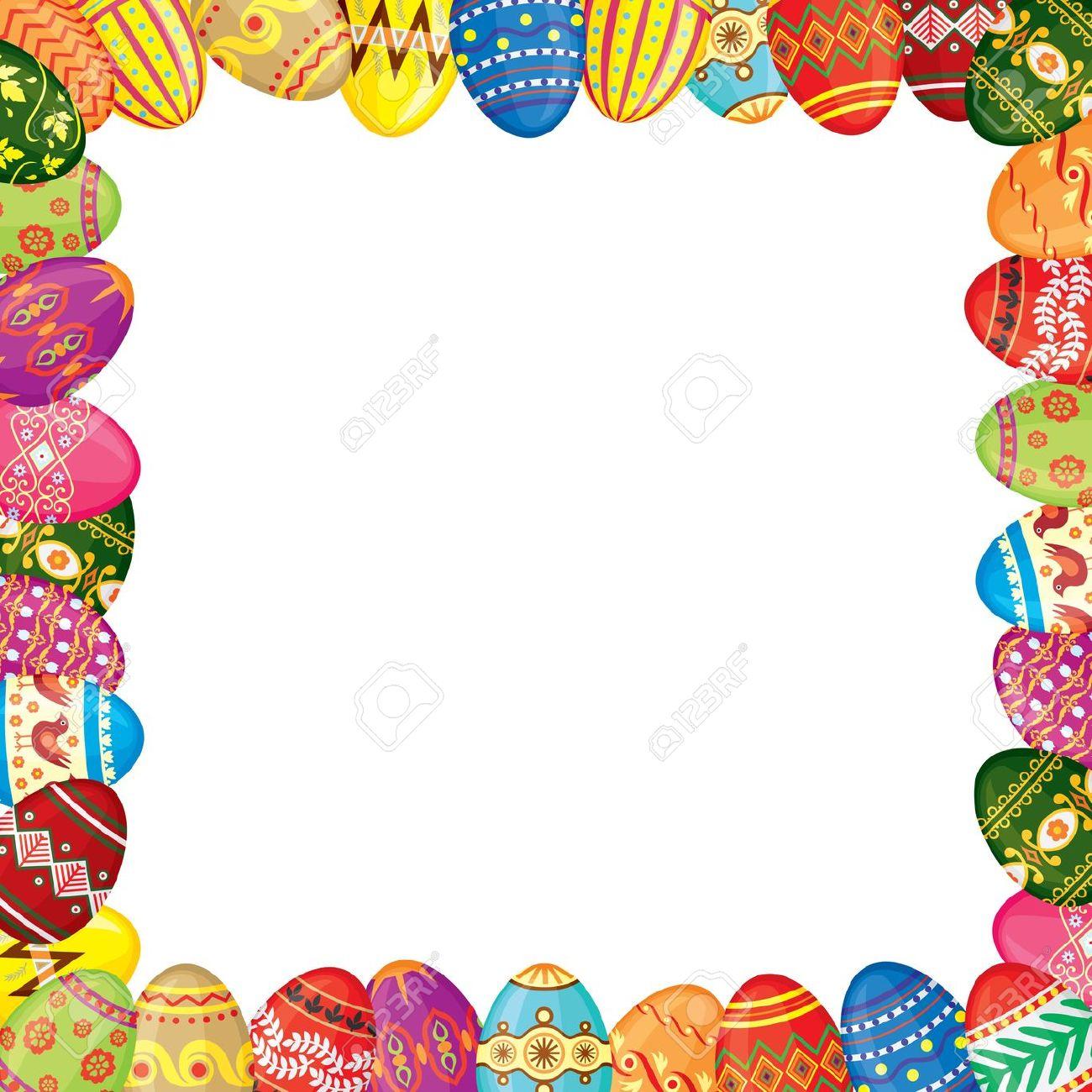 1300x1300 Easter Egg Border Clip Art