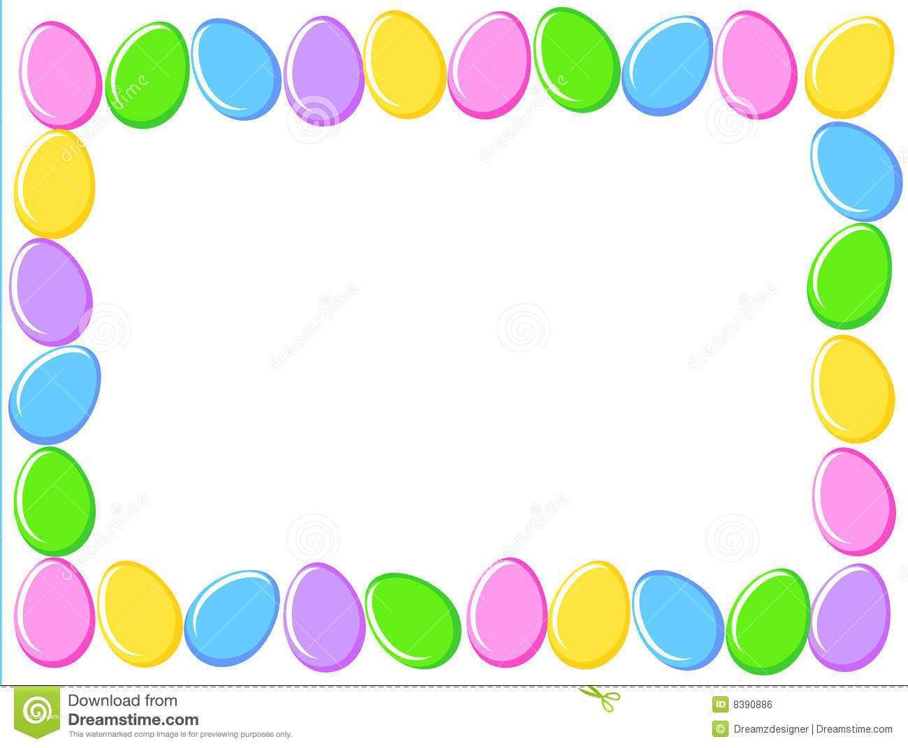 1300x1072 Elegant Easter Eggs Border Clipart