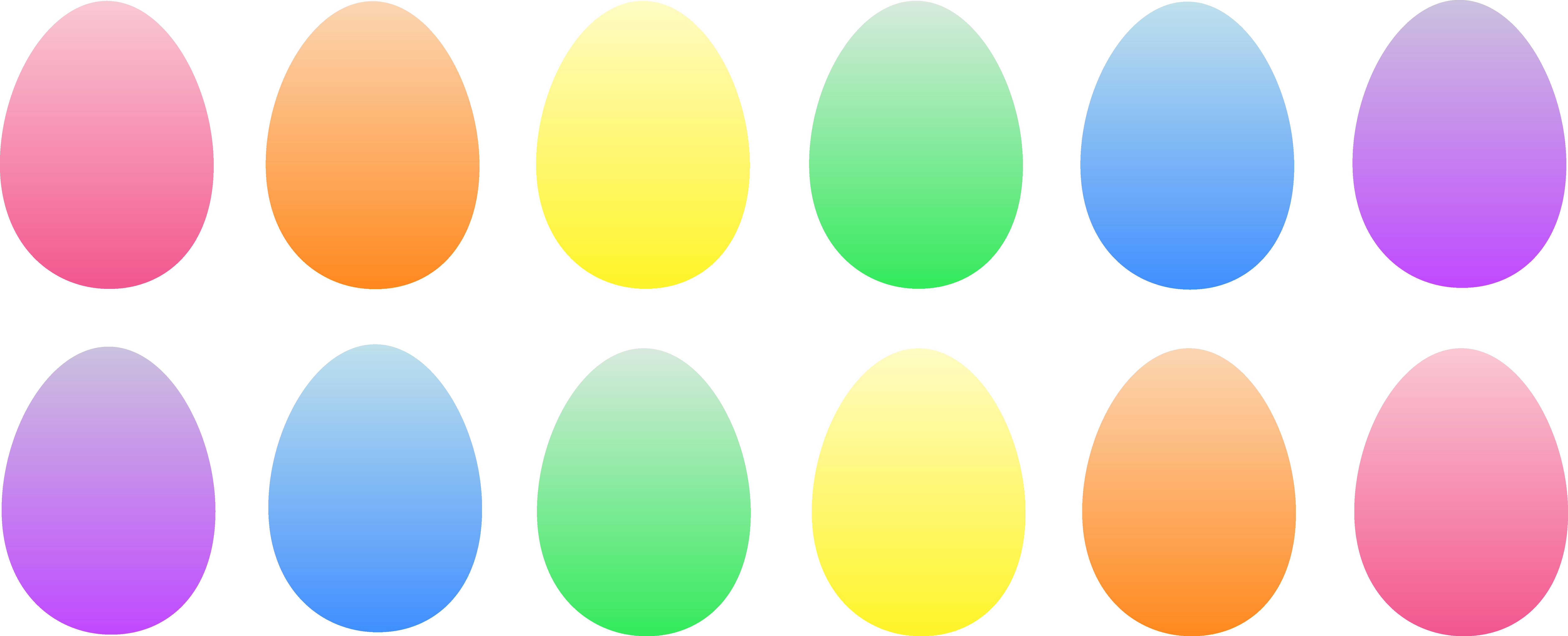 7508x3043 Easter Egg Border Clipart Free Images 4