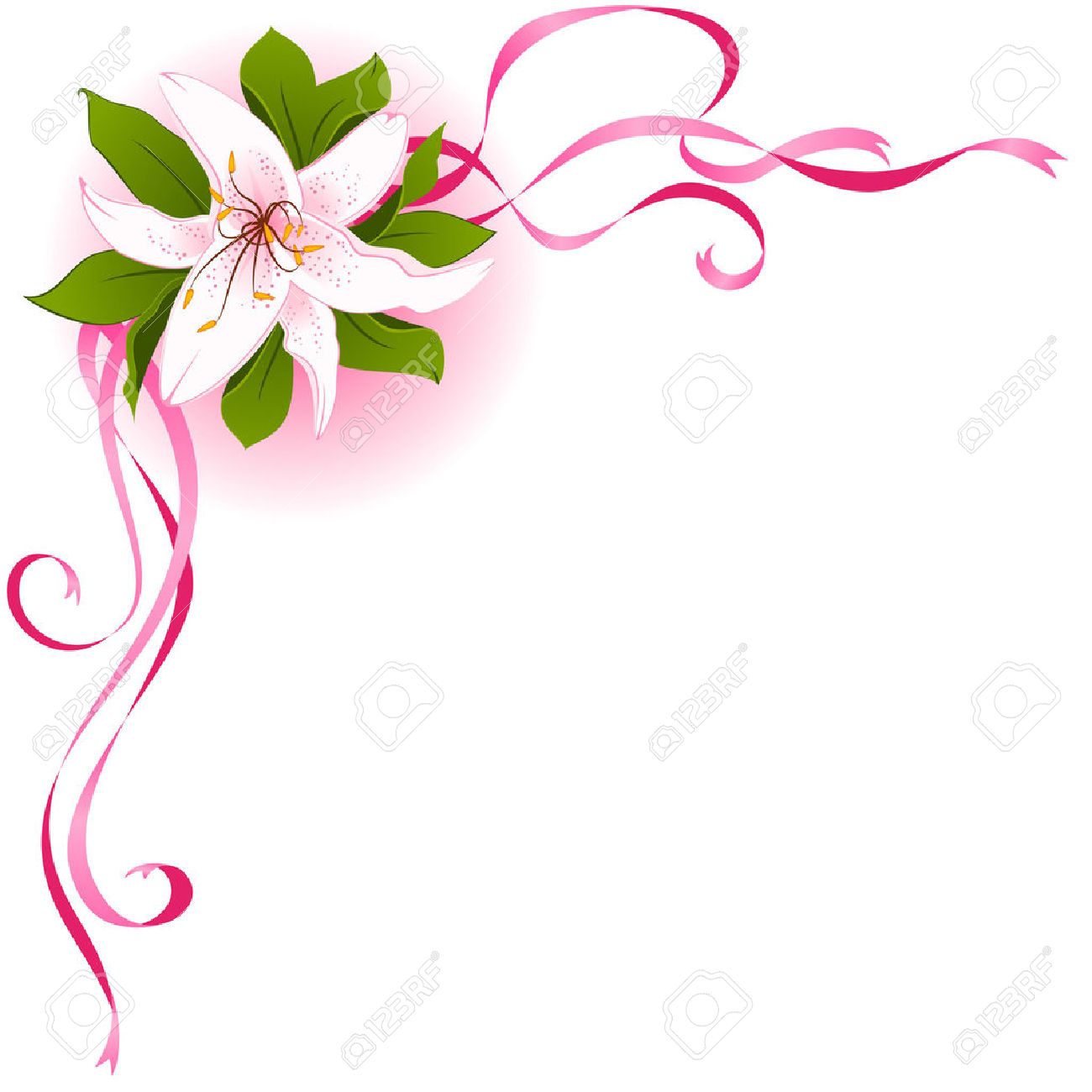 1300x1300 Lily Clipart Frame