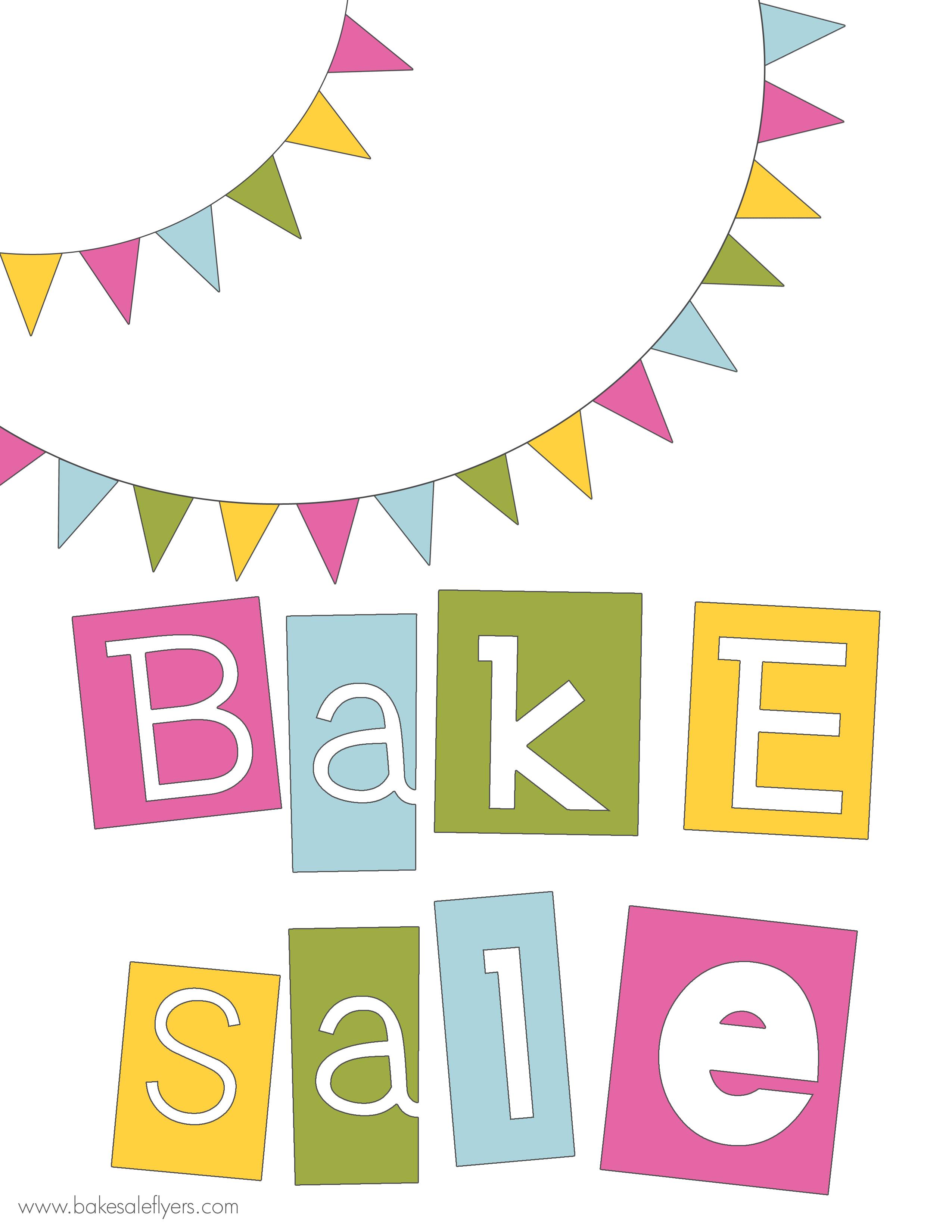 2550x3300 Bake Sale Border Clip Art