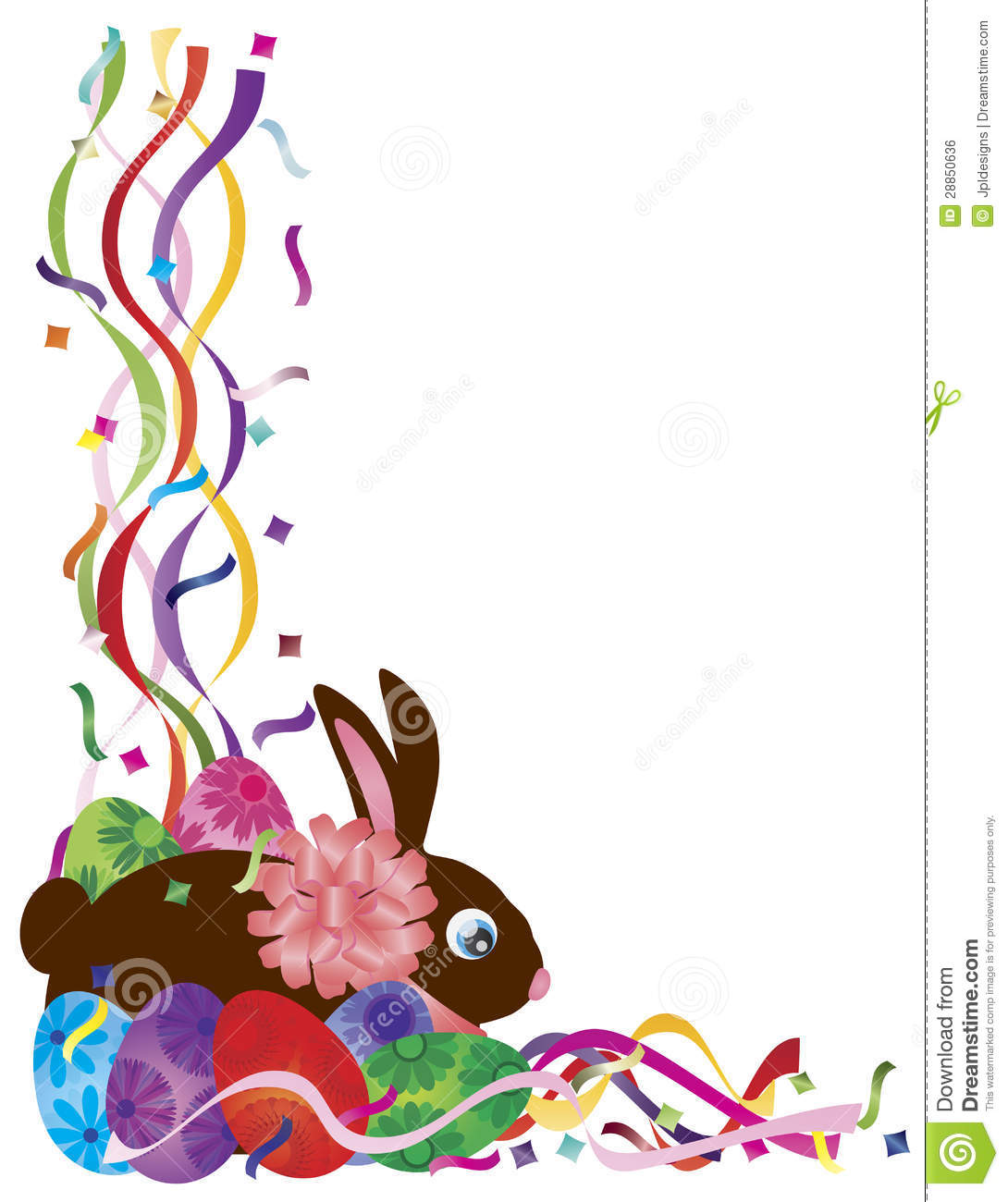 1090x1300 Easter Bunny Borders Happy Easter 2017