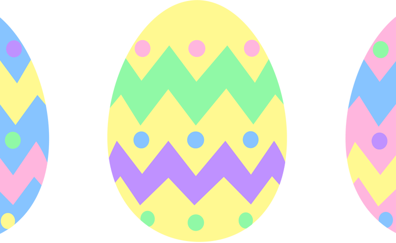 800x491 Easter Egg Border Clipart To Color