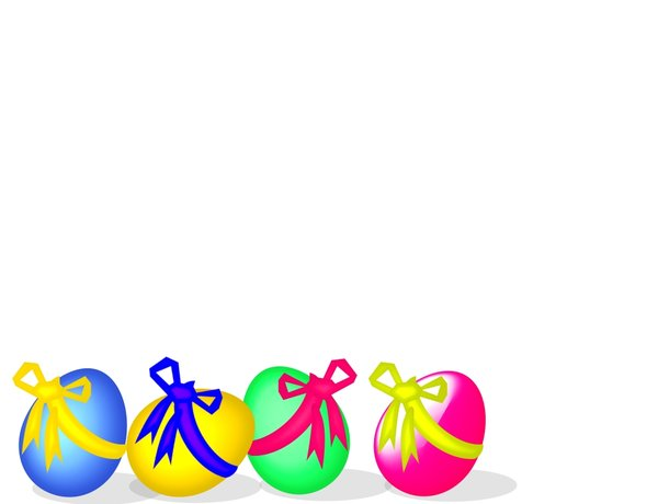 600x460 Border Clipart Easter Free