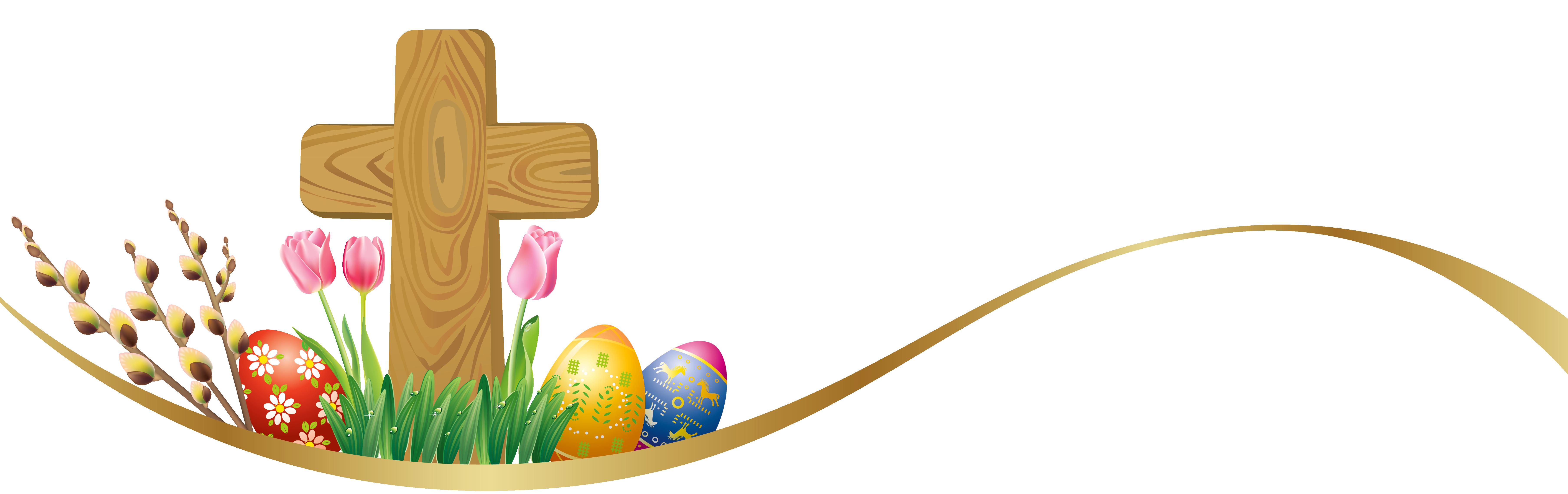 7226x2279 Easter Cross Borders Happy Easter 2017