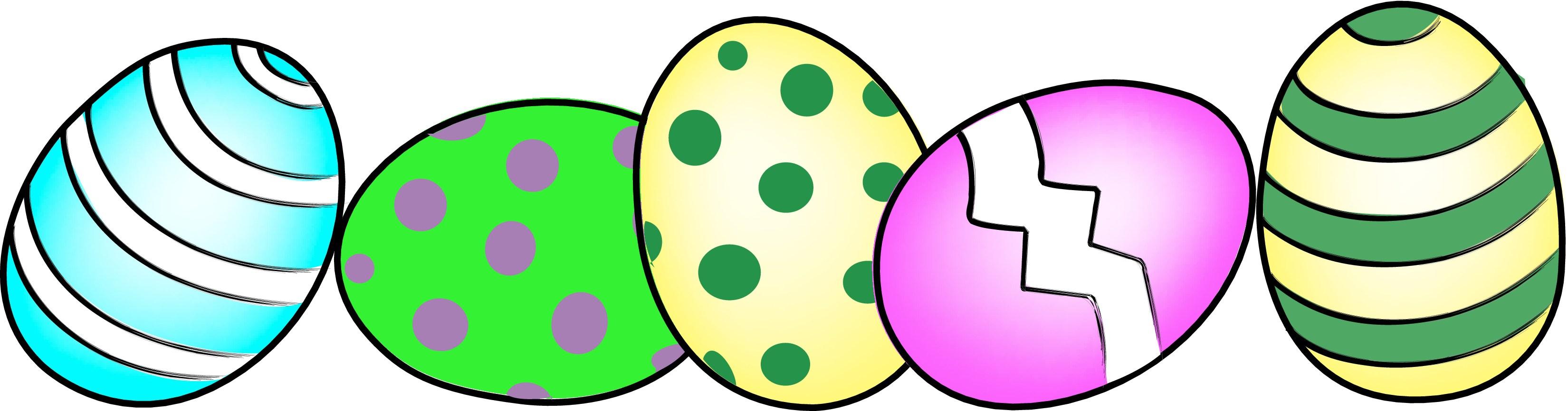3300x867 Easter Egg Border Clip Art Cliparts