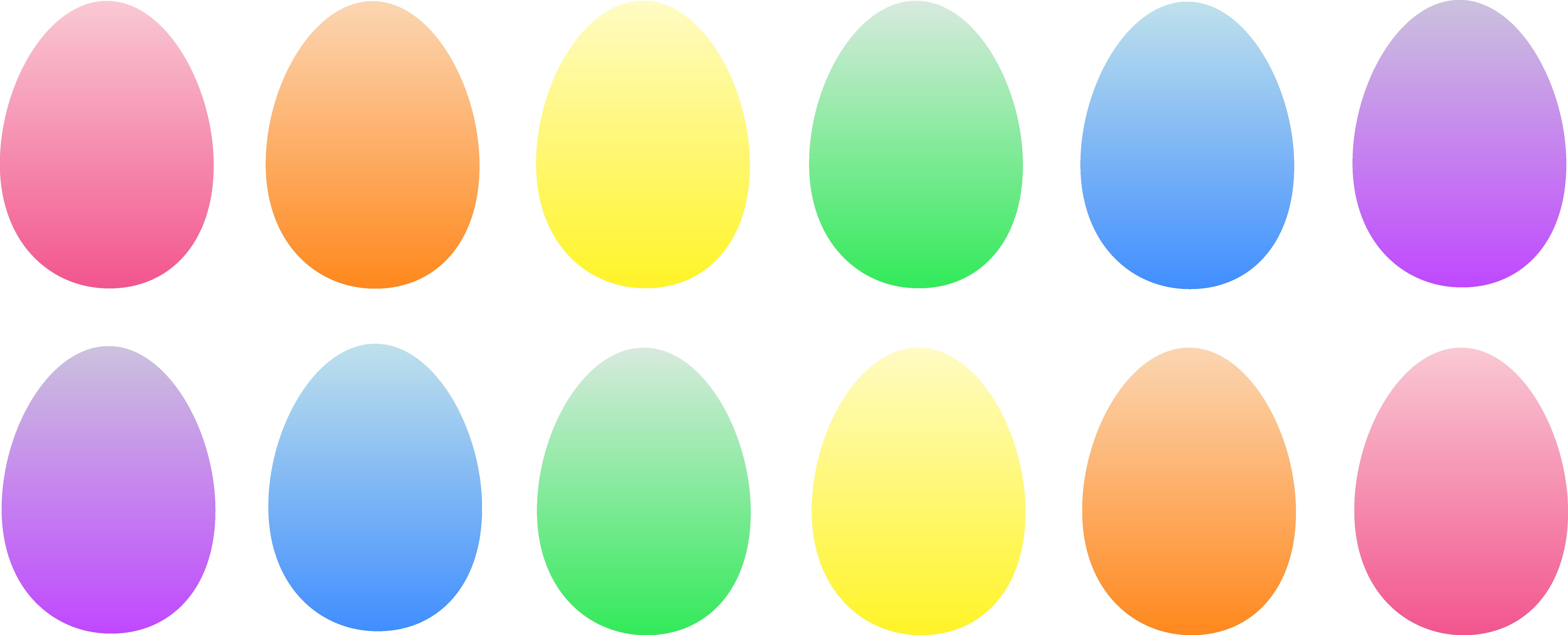 7508x3043 A Dozen Colored Easter Eggs