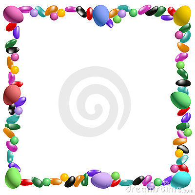 400x400 Jelly Beans Clipart Fun Border