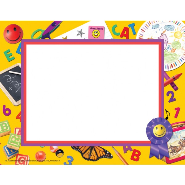 600x600 Preschool Borders Black And White Clipart 5