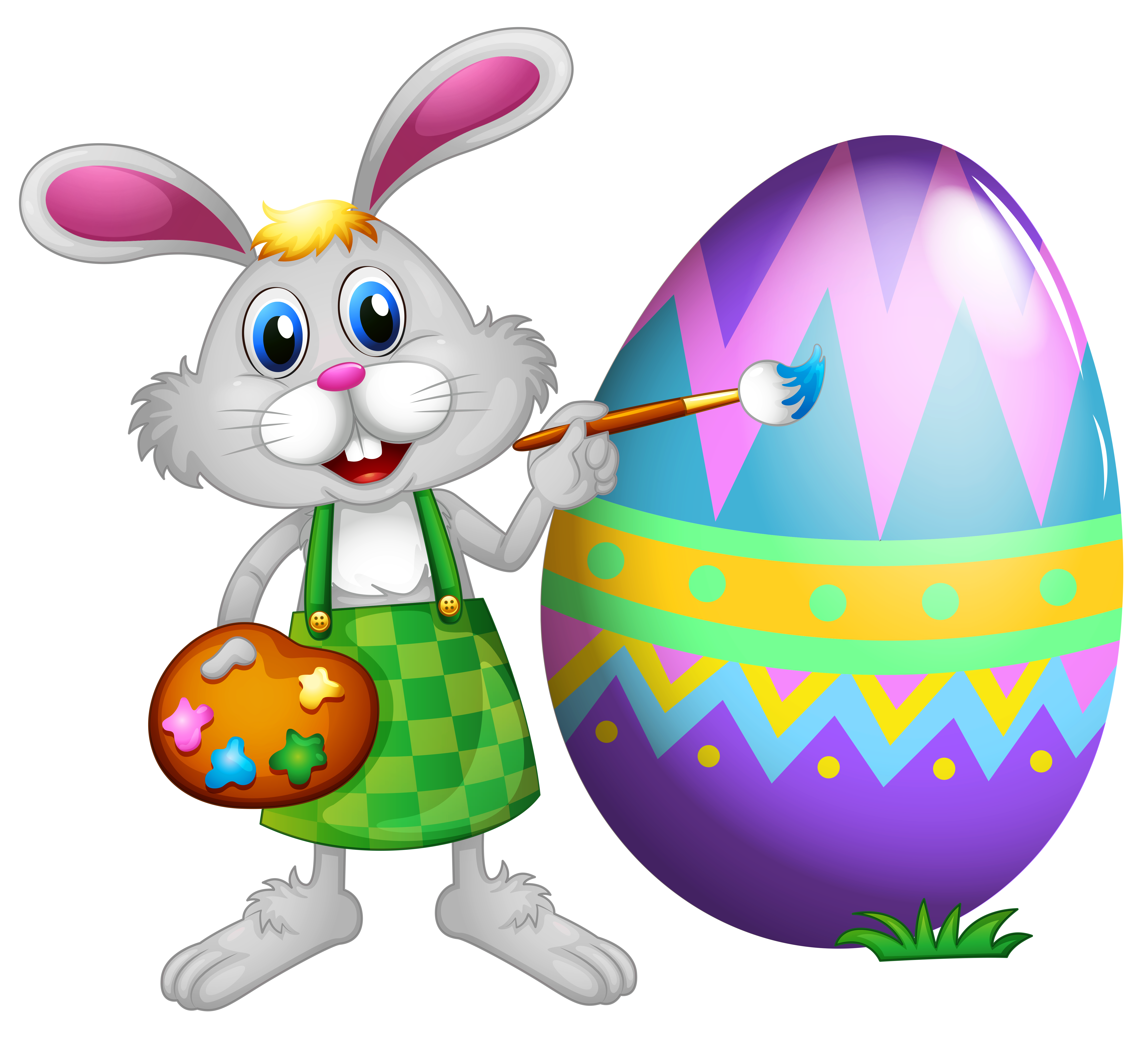 5626x5112 Easter Bunny And Colored Egg Png Clipart Pictureu200b Gallery