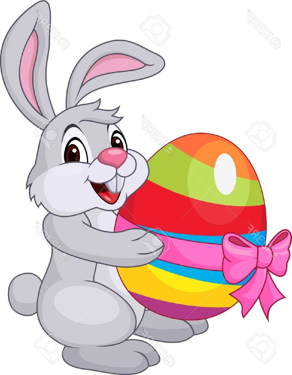 1014x1300 Best Hd Cute Rabbit With Easter Egg Stock Vector Bunny Cartoon