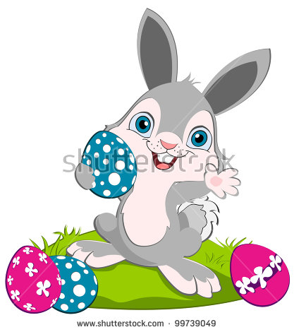 417x470 Blur Clipart Easter Bunny
