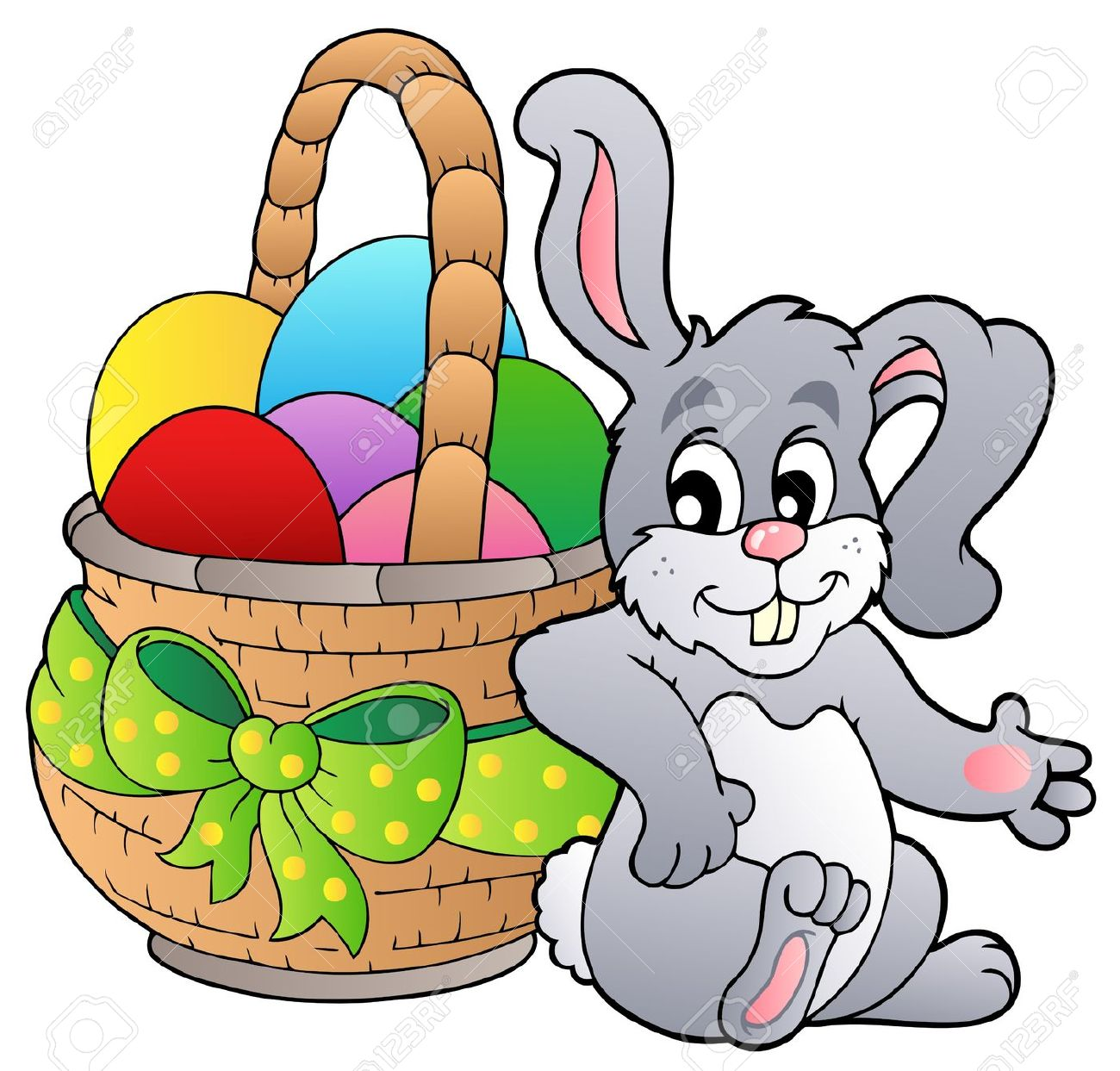 1300x1243 Easter Egg With Bunny Happy Easter 2017