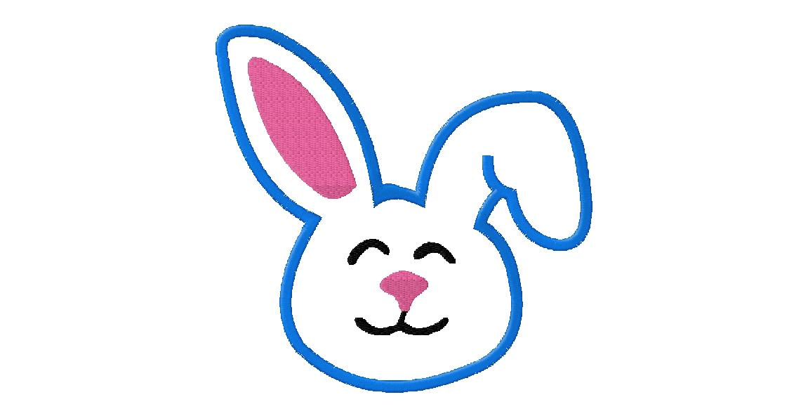 1151x592 Applique Easter Bunny Face Daily Embroidery