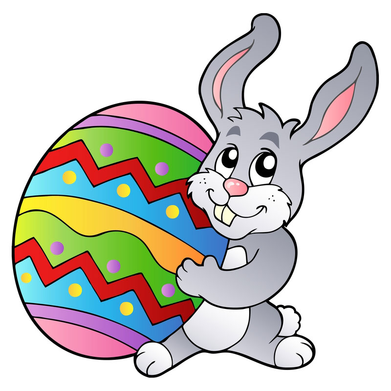 800x800 Lucky Easter Bunny Clipart
