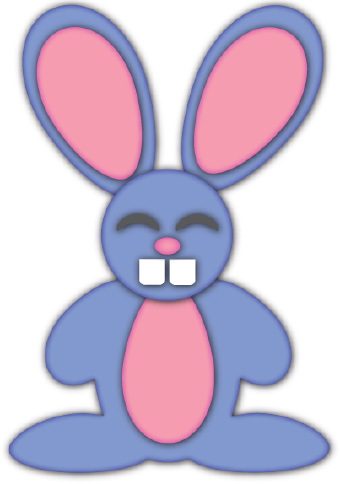 340x484 Blue Easter Bunny Clip Art