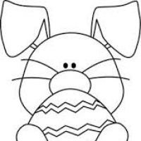 200x200 Easter Bunny Clipart Black And White