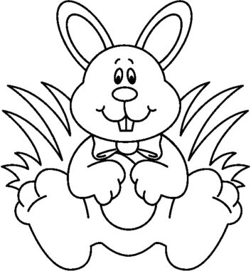 Easter Bunny Clipart Black And White