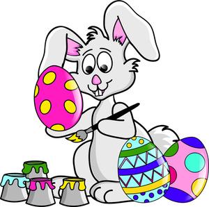 300x298 Easter Bunny Happy Easter Clip Art Free Eggs Clipart Pics 4