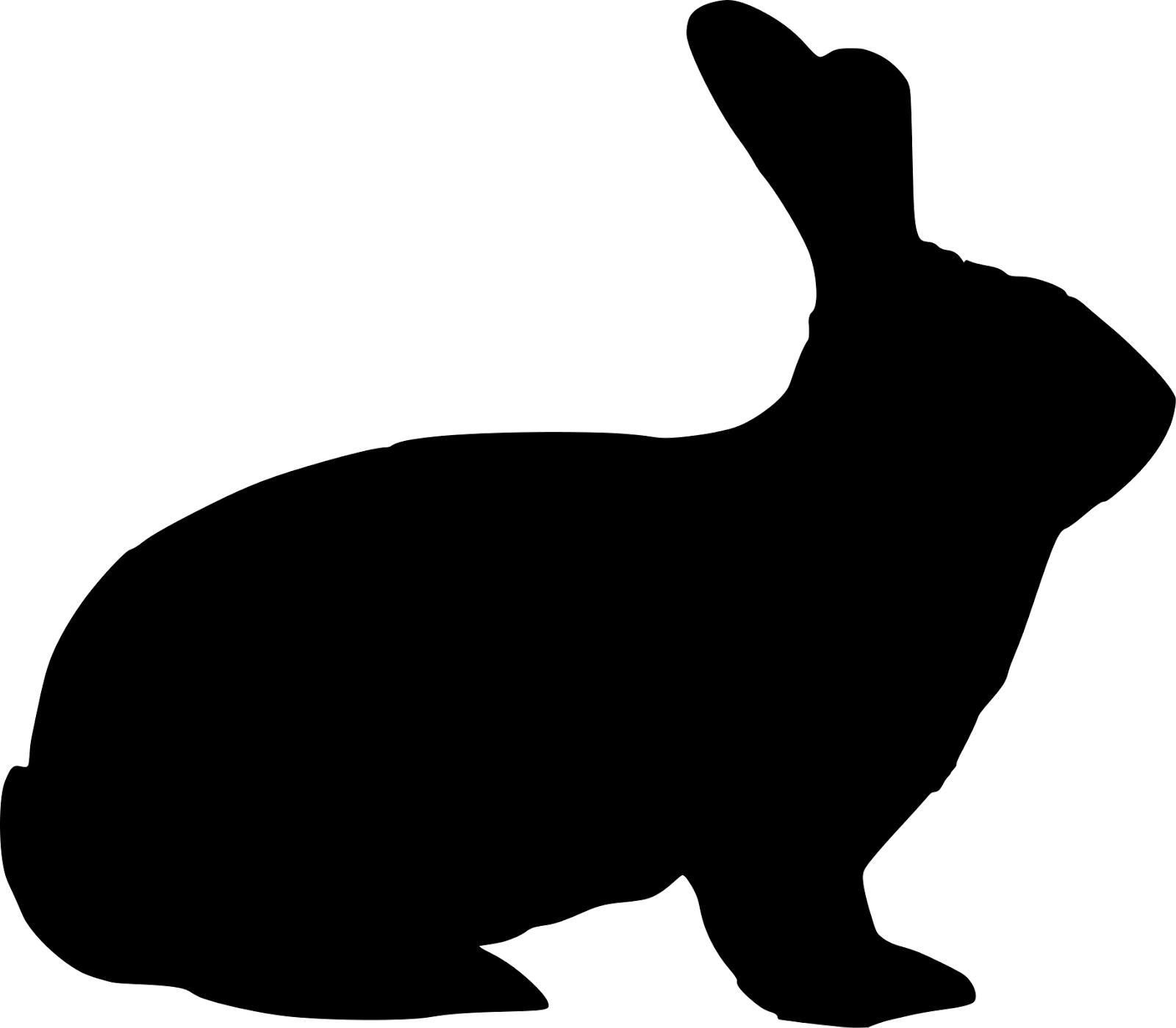 1600x1399 Bunny Clipart Silhouette