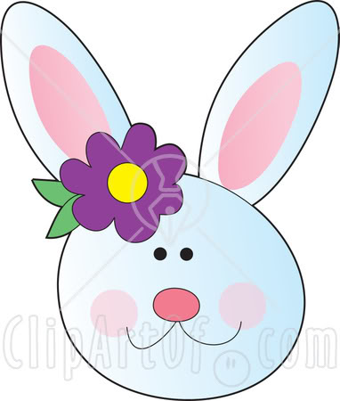 382x450 Face Clipart Easter Bunny