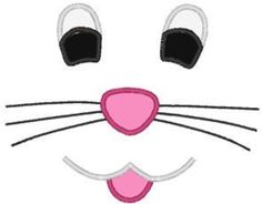 236x184 Bunny Face Svg Studio 3 Dxf Ai Ps And Pdf By Boodlebuggraphics