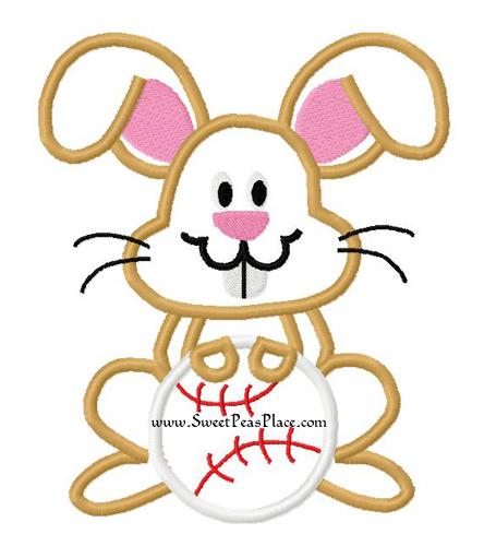 444x500 Easter Designs, Easter Bunny Face Applique Embroidery Design
