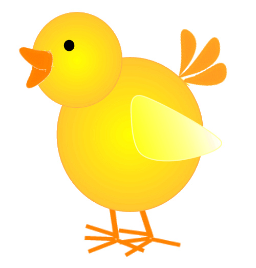 500x522 Chicken Free Easter Chick Images Clipart Image