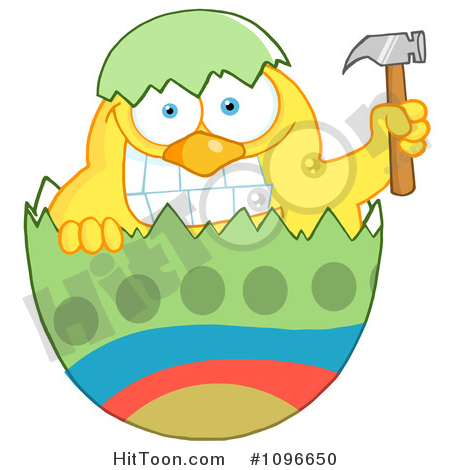 450x470 Easter Chick Clipart
