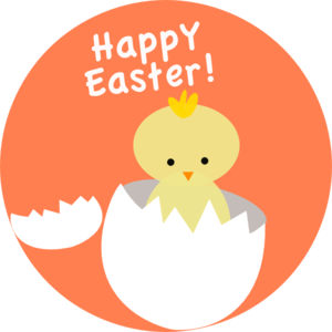 300x300 Easter Chick Hatching Clip Art