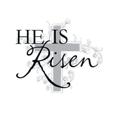 400x398 Easter Clipart Religious Black And White Religious He Is Risen