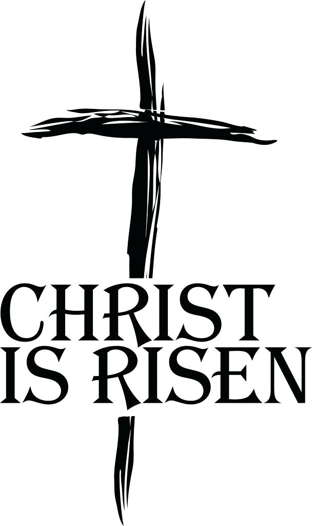 610x1024 Easter Clipart Religious Is Risen Cross Religious User Gallery