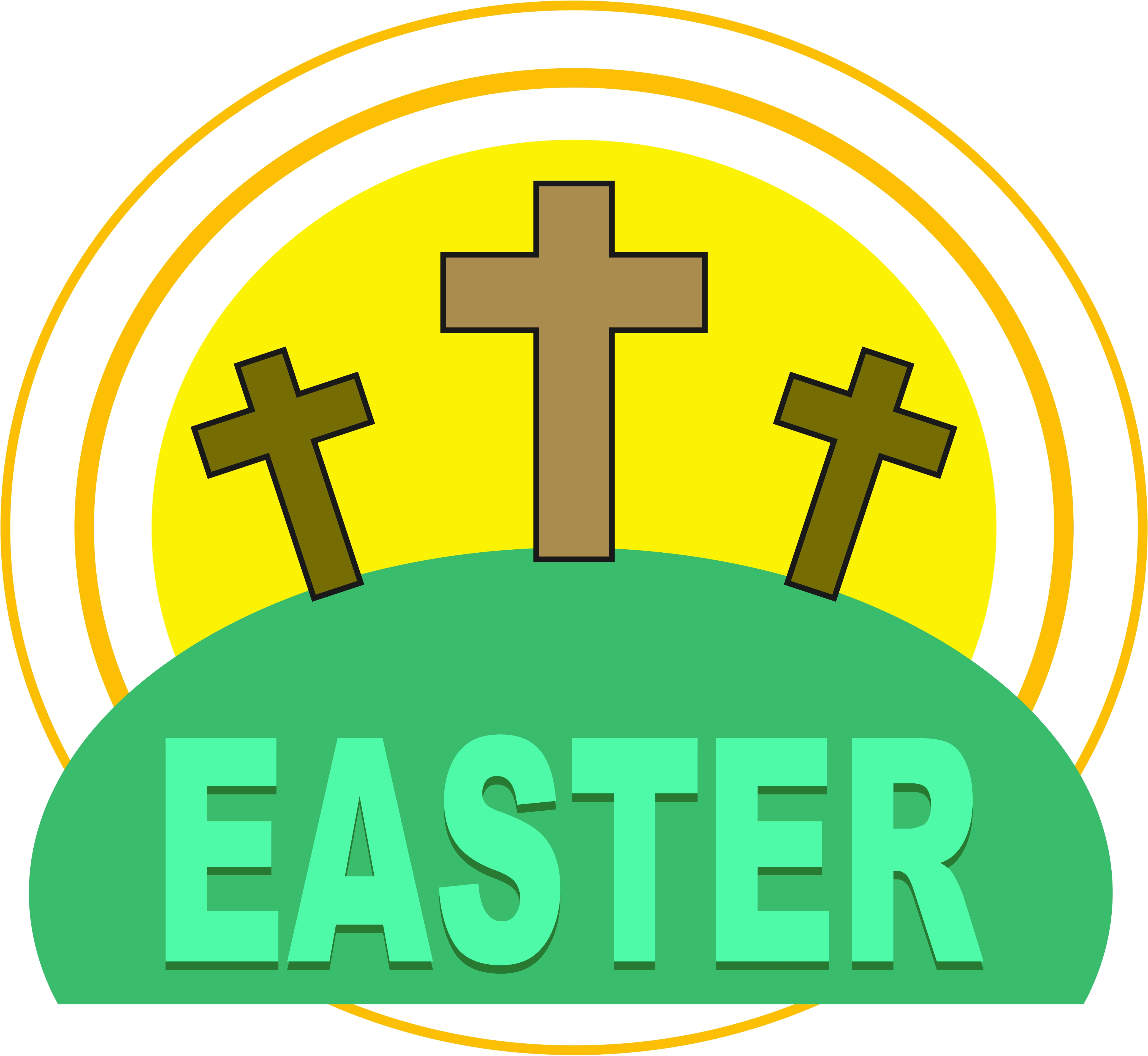 4169x3835 Easter Cross Clipart