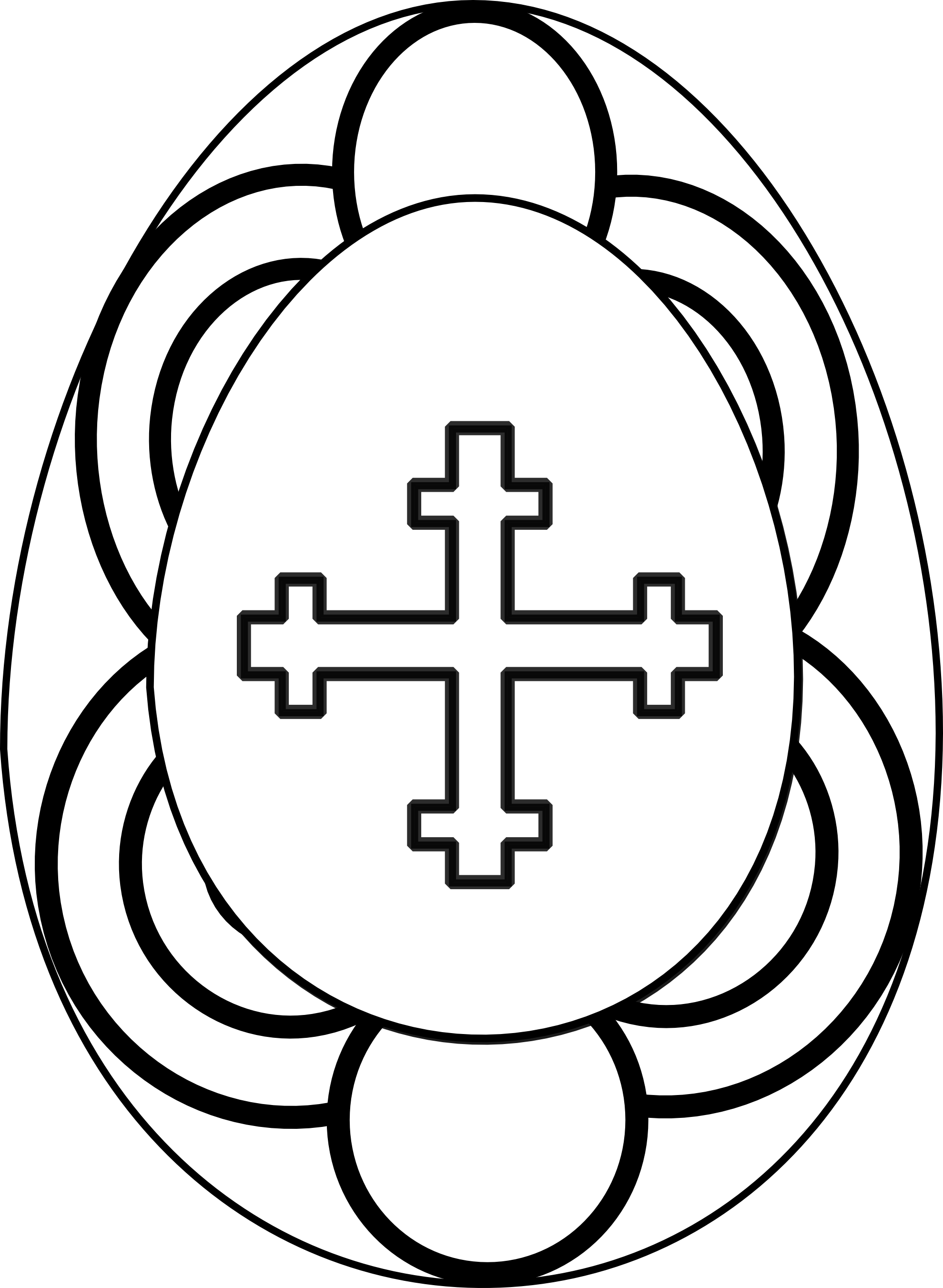 1979x2703 Easter Clipart Black And White