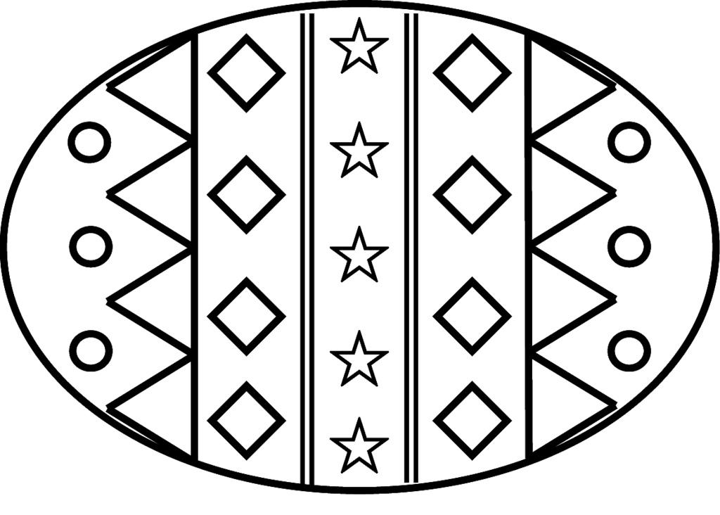 1024x732 Easter Egg Clip Art Black And White Clipartfest