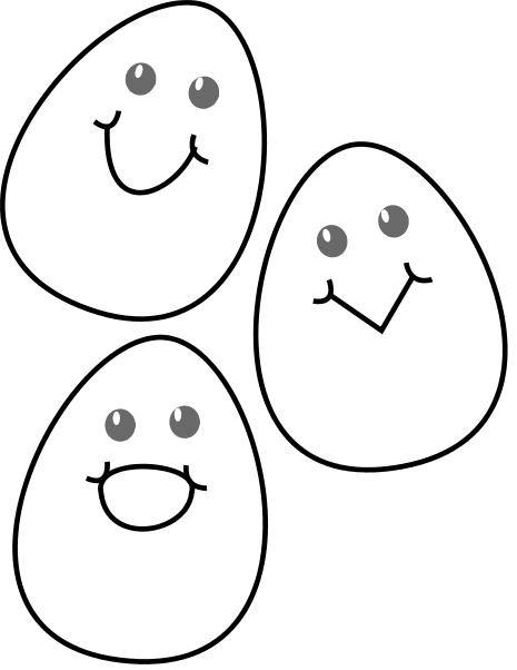 465x602 Free Black And White Easter Clipart