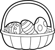 190x174 Free Black And White Easter Clipart