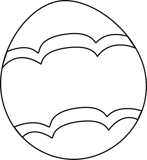 507x550 Black And White Easter Clipart