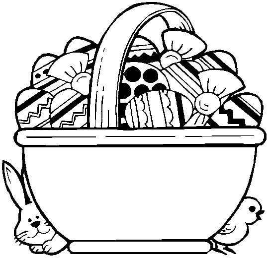 539x520 White Easter Basket Clipart
