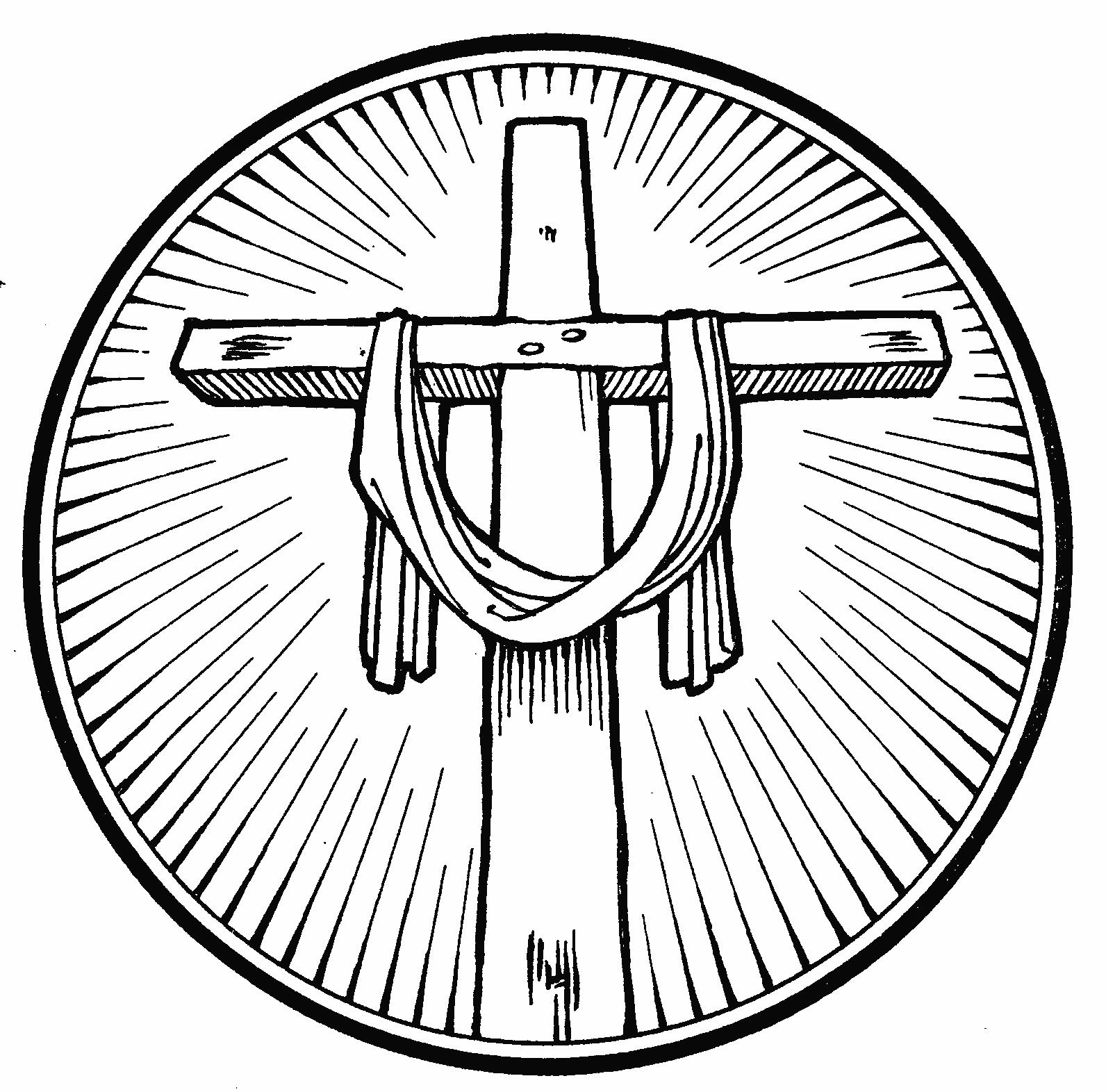 1592x1572 Clipart Black And White Religious Cross