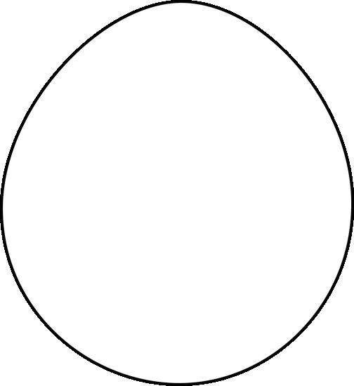 504x550 Black And White Easter Egg Clip Art