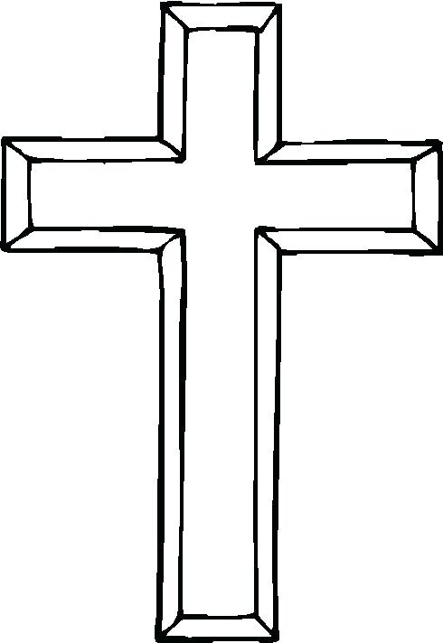 490x712 Easter Clipart Religious Sign Of The Cross Coloring Page Coloring