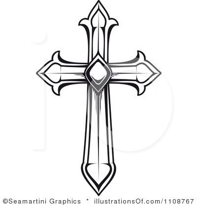 400x420 Clipart Of Cross