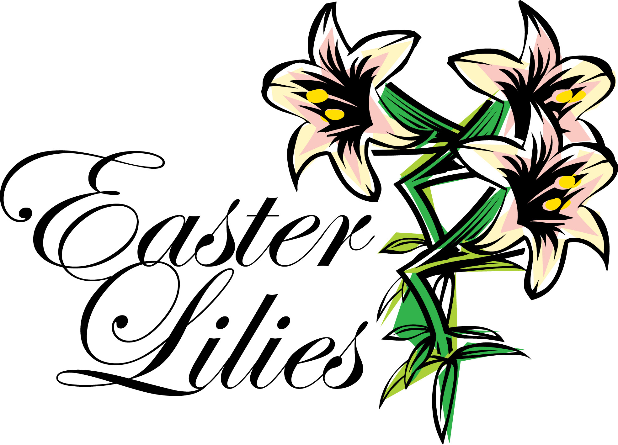 1970x1419 Free Clipart Easter Lily