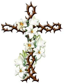 274x360 Cross Easter Lily Clip Art
