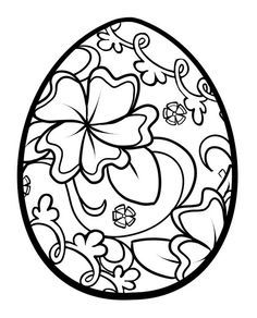 Easter Egg Black And White Clipart