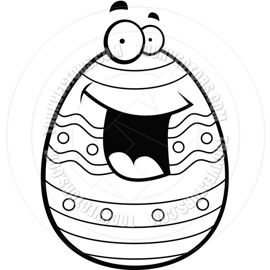 940x940 Easter Egg (Black And White Line Art) By Cory Thoman Toon