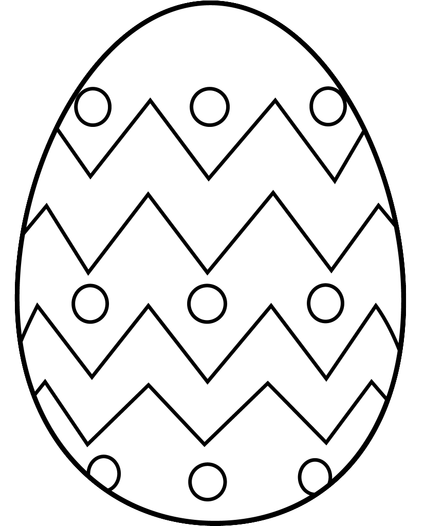827x1024 Free Black And White Easter Egg Clipart Clipartfest