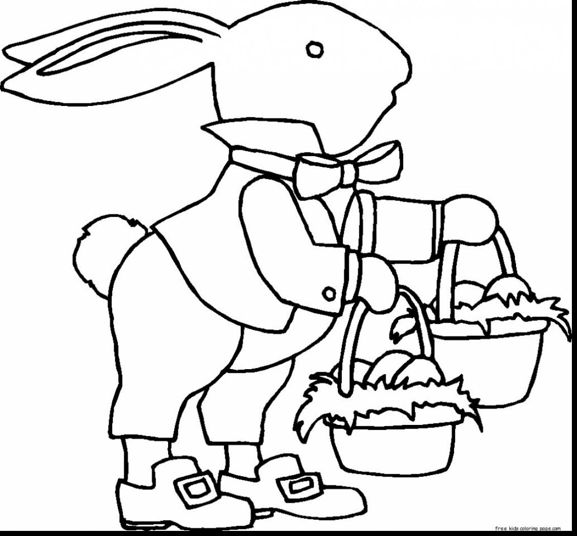 1126x1047 Magnificent Clip Art Easter Eggs Coloring Pages With Easter Basket