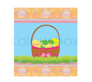 320x284 Easter Border With Egg Decorated Tulips (Can Be Repeated